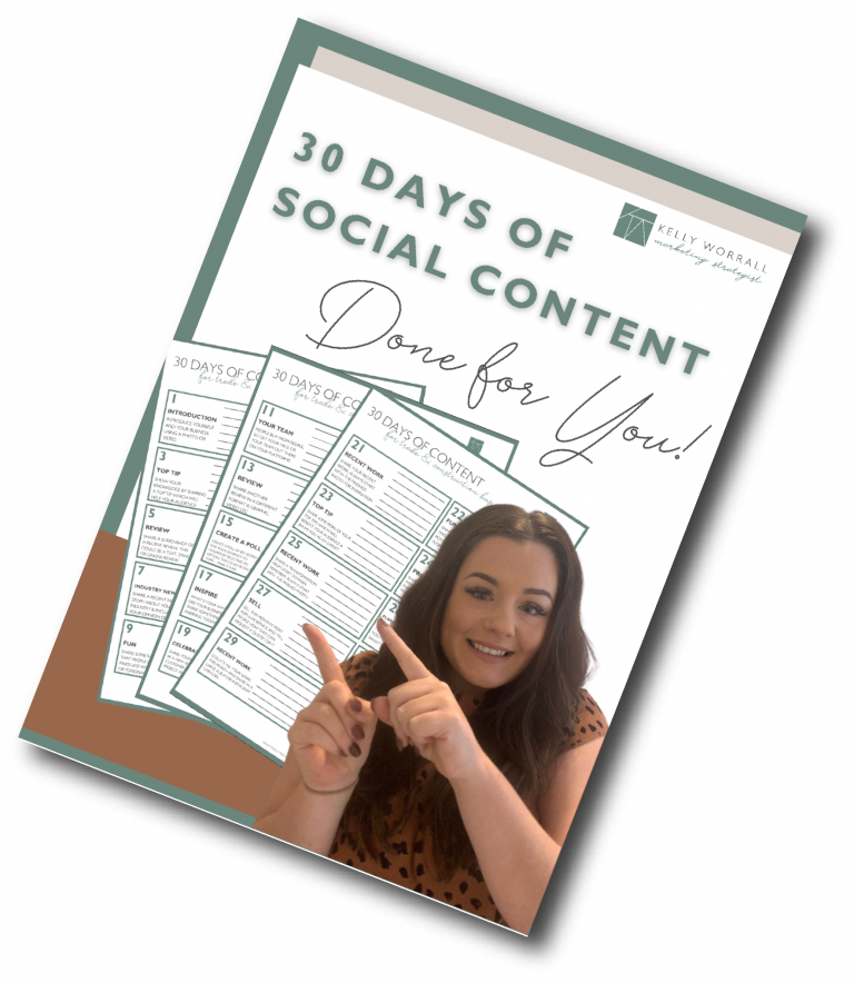 30 days of social content